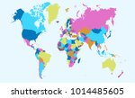 color world map vector | Shutterstock .eps vector #1014485605