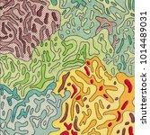 vintage contour mapping.... | Shutterstock . vector #1014489031