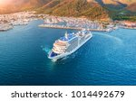 cruise ship at harbor. aerial...   Shutterstock . vector #1014492679