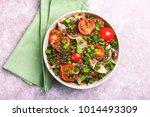 traditional indian cuisine.... | Shutterstock . vector #1014493309