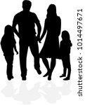 vector silhouette of family. | Shutterstock .eps vector #1014497671
