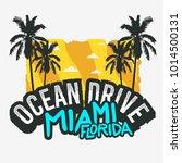 ocean drive miami beach florida ... | Shutterstock .eps vector #1014500131