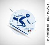 alpine skiing championship... | Shutterstock .eps vector #1014501475