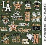 varsity graphics for t shirt | Shutterstock .eps vector #1014502567