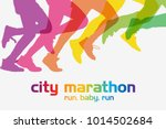 running people. running... | Shutterstock .eps vector #1014502684