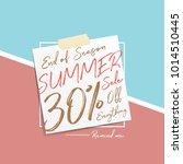 summer sale v6 30 percent...   Shutterstock .eps vector #1014510445