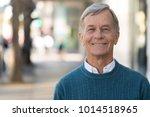 senior mature man smile face... | Shutterstock . vector #1014518965