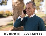 senior mature man talking on...   Shutterstock . vector #1014520561