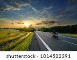motion blurred motorcycle ride... | Shutterstock . vector #1014522391