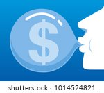 the businessman blows the... | Shutterstock .eps vector #1014524821