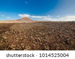 amazing vulcanic landscape with ...   Shutterstock . vector #1014525004
