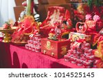 thai chinese marriage portion...   Shutterstock . vector #1014525145