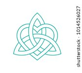 vector icon  celtic knot ... | Shutterstock .eps vector #1014526027