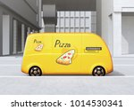side view of yellow self... | Shutterstock . vector #1014530341
