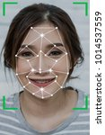 woman face detection and...   Shutterstock . vector #1014537559