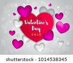valentines day sale background...   Shutterstock .eps vector #1014538345