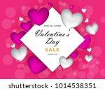 valentines day sale background... | Shutterstock .eps vector #1014538351