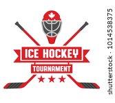 an ice hockey tournament crest...   Shutterstock .eps vector #1014538375