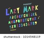 vector set alphabets. cute...   Shutterstock .eps vector #1014548119