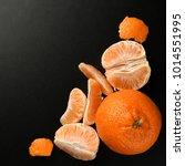 orange  mandarin  tangerine...   Shutterstock . vector #1014551995