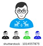 joy nerd boy vector pictograph. ... | Shutterstock .eps vector #1014557875