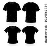 men   women black t shirt...   Shutterstock .eps vector #1014561754