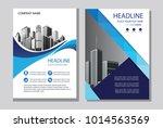 design cover book blue color.... | Shutterstock .eps vector #1014563569