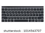 modern black laptop keyboard... | Shutterstock .eps vector #1014563707