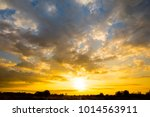 sunrise with cloud sky... | Shutterstock . vector #1014563911