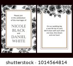 invitation with floral... | Shutterstock .eps vector #1014564814