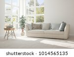 idea of white room with sofa... | Shutterstock . vector #1014565135