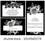 invitation with floral... | Shutterstock .eps vector #1014565174