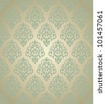 Damask Golden Wallpaper. Can B...