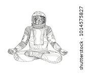 mandala art illustration of an...   Shutterstock .eps vector #1014575827