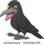 cartoon crow isolated on white... | Shutterstock .eps vector #1014581335