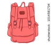 vector single pink cartoon... | Shutterstock .eps vector #1014581734