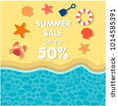 summer sale up to 50  life... | Shutterstock .eps vector #1014585391