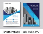design cover book with blue... | Shutterstock .eps vector #1014586597