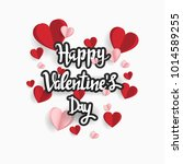 happy valentine day. with... | Shutterstock .eps vector #1014589255