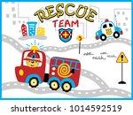 rescue team cartoon vector with ...   Shutterstock .eps vector #1014592519