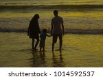 kids and teenagers silhouettes... | Shutterstock . vector #1014592537