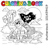 coloring book with pirate topic ... | Shutterstock .eps vector #101459419