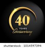 40 years anniversary... | Shutterstock .eps vector #1014597394