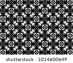 ornament with elements of black ... | Shutterstock . vector #1014600649