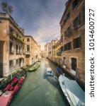 street view of venecia canal... | Shutterstock . vector #1014600727