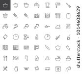 cooking instructions line icons ... | Shutterstock .eps vector #1014608629