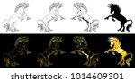 set the state proud unicorns... | Shutterstock .eps vector #1014609301