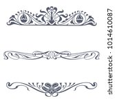set of victorian ornaments... | Shutterstock .eps vector #1014610087