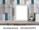 mock up poster or photo frame ... | Shutterstock . vector #1014610291