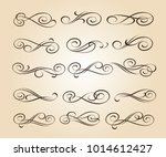 set of decorative elements.... | Shutterstock .eps vector #1014612427